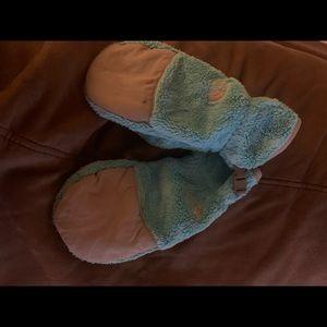North face children's fleece gloves